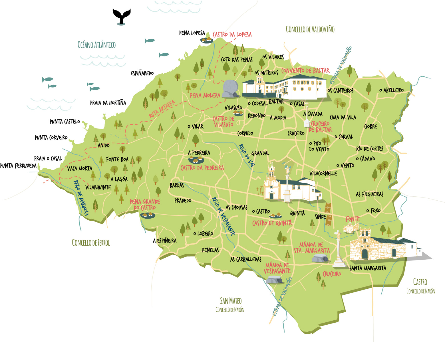 mapa de O Val