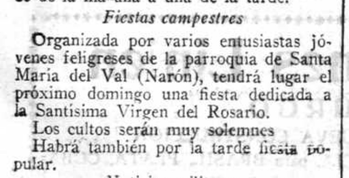 recorte de El Ideal gallego 1929